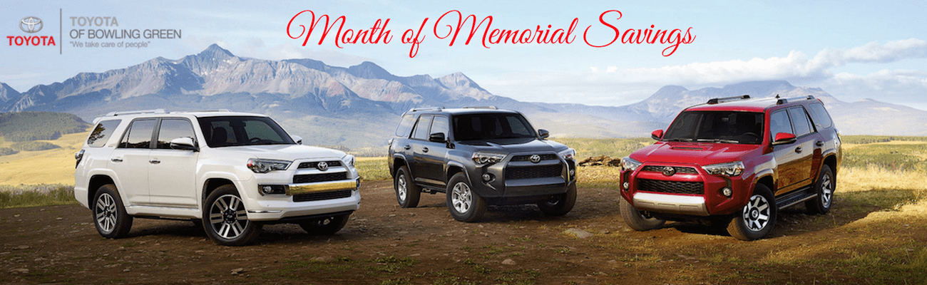 Toyota Of Bowling Green >> Month Of Memorial Savings Event Bowling Green Ky